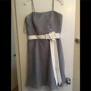 Alfred Angelo grey/white bridesmaid dress